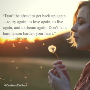 Image result for dont be afraid to try again love again